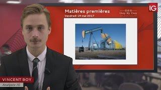 BRENT CRUDE OIL - Bourse - Cours du pétrole brut Brent, bataille entre acheteurs et vendeurs - IG 19.05.2017