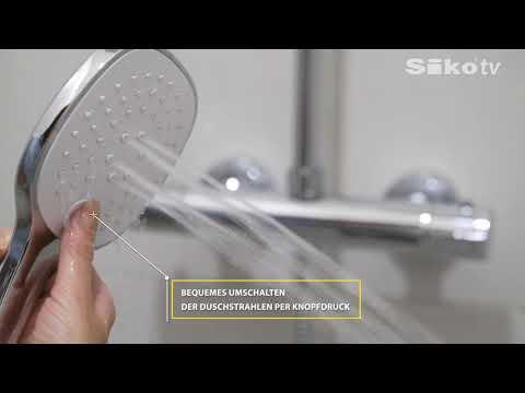 Duschsystem mit thermostat-mischbatterie