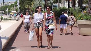 Cannes Elegant Daytime Beach Outfits, Summer In The South Of France.