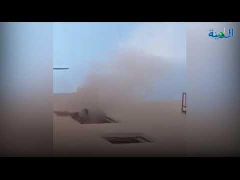 العقبة : حريق يحاصر سكان عمارة وأب ينقذ اطفاله