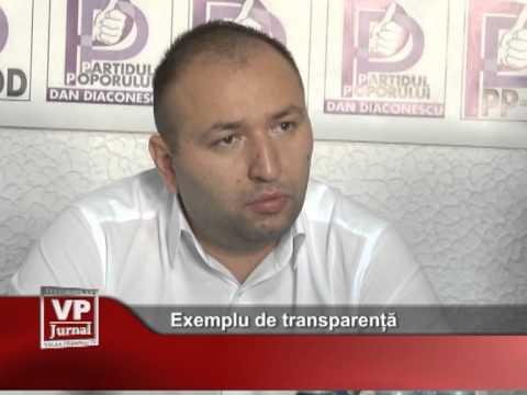 Exemplu de transparență