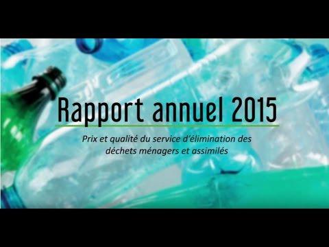 Rapport annuel 2015 sur le prix et la qualité du service public d'élimination des déchets