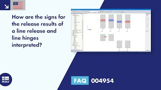 FAQ 004954 | How are the signs for the release results of a line release and line hinges interpreted?