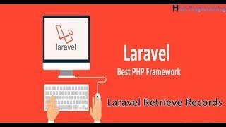 Laravel :Retrieve Data From Mysql Database (hindi)