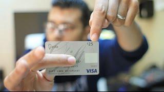 الحصول على بطاقة مصرفية VISA مشحونة بمبلغ 25 دولار كهدية