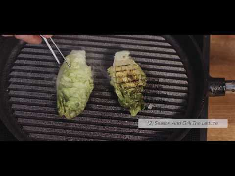 Truffle Oil Powder Using Zorbit® Served With Grilled Lettuce And Smoked Yoghurt