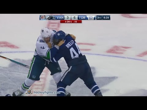 Alexandre Burrows vs Morgan Rielly