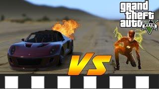 FLASH vs ROCKET CAR! - GTA 5 ULTIMATE FLASH MOD