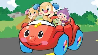 Wheels on The Car Song - Laugh & Learn™ | Kids Learning | Cartoons For Kids | Nursery Rhymes