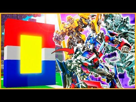 OPTIMUS PRIME VS MEGATRON!! - COMO HACER un PORTAL de TRANSFORMERS - MINECRAFT MODS