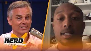 Chris Harris Jr. talks Justin Herbert-Tyrod Taylor QB battle, Drew Lock, Derek Carr   NFL   THE HERD