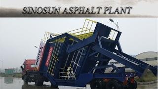 Мобильный асфальтобетонный завод SINOSAN МАР 2000 (160 т/ч) от компании Строительное Оборудование - видео 3