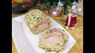 Я просто обернула мясо фаршем и получился Новогодний Мясной Рулет / Рецепты Другой Кухни