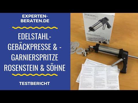 ᐅ Unboxing- und Test-Video der Rosenstein & Söhne Edelstahl-Gebäckpresse & -Garnierspritze - PEARL