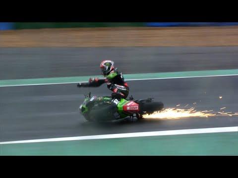 またもやハイサイド転倒。スーパーバイク世界選手権 第7戦フランス(マニクール・サーキット)