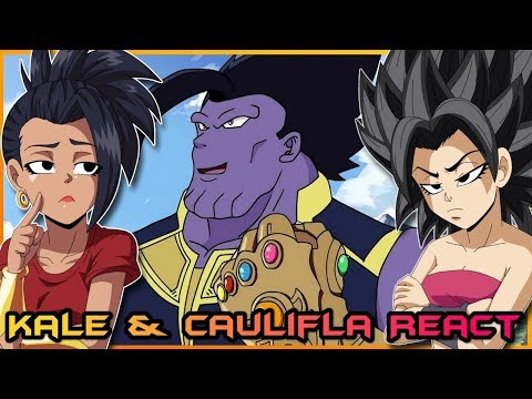 Kale and Caulifla React Dragon Avengers Infinity Ball Z!