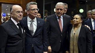 Une semaine après les attentats de Paris, réunion d'urgence à Bruxelles des ministres de…