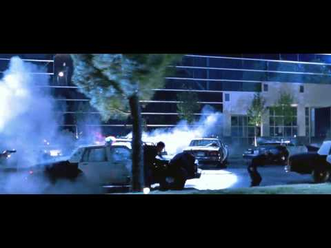 Terminator II - Judgment Day (1991) Minigun Scene HD