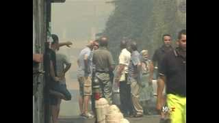 preview picture of video 'Scene da un incendio - Morlupo, 5 agosto 2012'