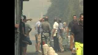 preview picture of video 'Scene da un incendio - Morlupo, 5 agosto 2012'