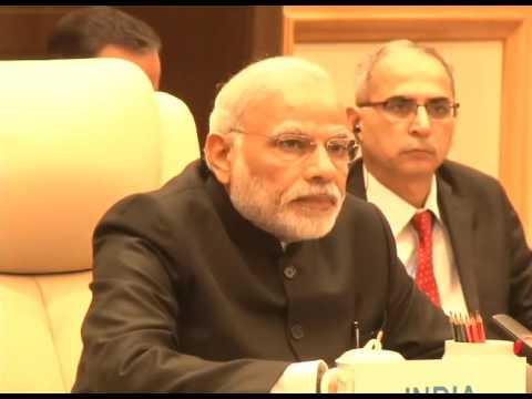 PM Modi addresses BRICS leaders meet on the sidelines of G20 Summit.