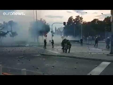 83η ΔΕΘ : Συγκρούσεις στο συλλαλητήριο για τη Μακεδονία.