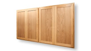 How To Make Great Looking Cabinet Doors - Kitchen Cabinets - Woodworking