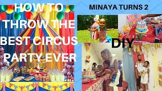 BEST Circus Birthday Party Decorations (DIY)