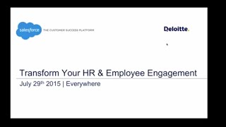 Live Webinar With Deloitte: Transform Your HR And Employee Engagement With Salesforce