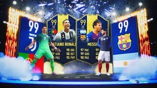 CRISTIANO RONALDO TOTY Y MESSI TOTY  IN PACKS!!!   BRUTAL TOP SOBRES TOTY EDITION!!   FIFA 19