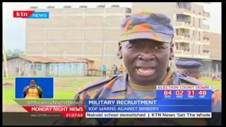 KDF warns prospective candidates to ensure they are physically fit before joining the rigorous tests