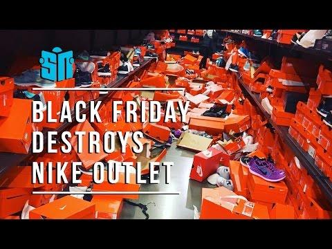 Black Friday Destroys Seattle Nike Outlet