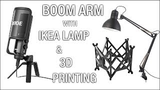 Microphone Boom Arm. IKEA Hack 3D Printing