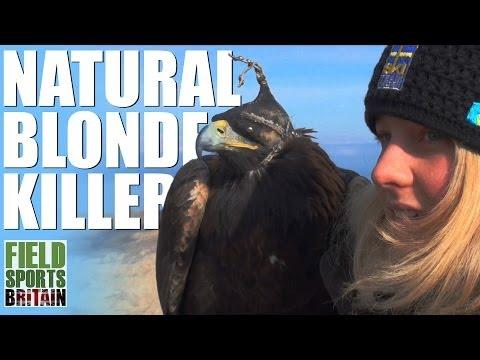 Fieldsports Britain – Swedish blonde flies eagles in Kyrgyzstan