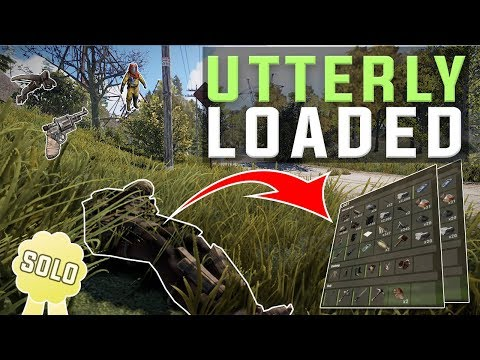 LOADED INVENTORY for my INSANE STACKED SOLO base - Rust SOLO #2