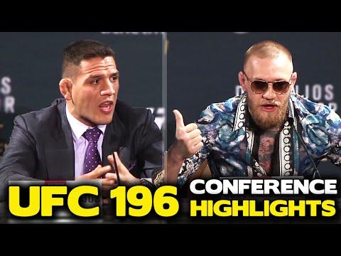 Conor McGregor's BRUTAL Verbal Assault on Rafael Dos Anjos Highlights! | UFC 196