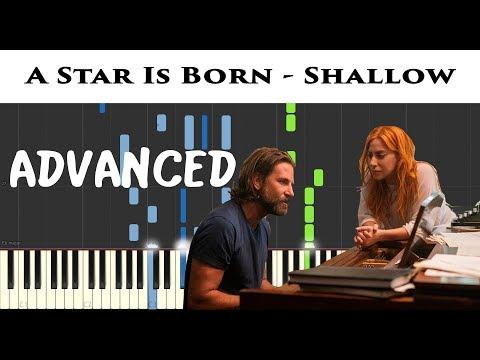 Shallow - Lady Gaga - Piano Tutorial Easy - (A Star is Born) - Sheet