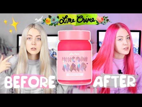 РОЗОВЫЕ ВОЛОСЫ Lime Crime Unicorn Hair ❤ Трансформация