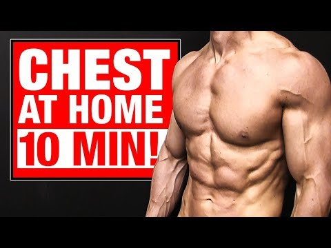 Home Chest Workout   10 Minutes (FOLLOW ALONG!)