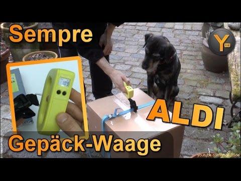 Kurztest: Sempre Gepäck-Waage / Kofferwaage bis 50kg (ALDI Süd) Pakete wiegen