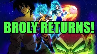 Broly Returns In The Dragon Ball Super Movie! The Legendary Super Saiyan Is The Greatest Enemy!