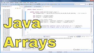 Java Tutorial - 03 - Search for the Max and Min Value of an Array