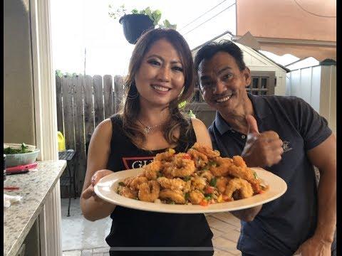 ឆាពិសេសបង្គាជូរផ្អែម    House Special Sweet and Sour Shrimp