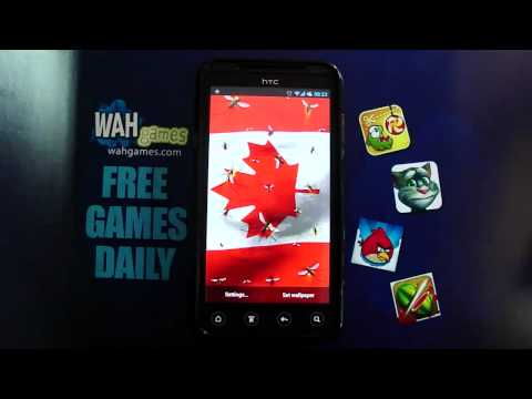 Video of Canada flag free livewallpaper
