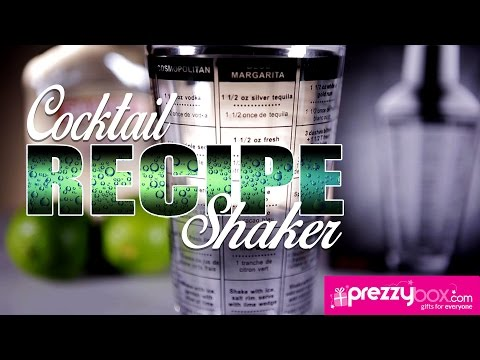 Glass Recipe Cocktail Shaker