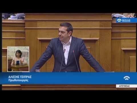 Δευτερολογία Πρωθυπουργού Α.Τσίπρα(Περιεχόμενο κρίσιμων συζητήσεων Κυβέρνησης-Δανειστών)(23/05/2018)