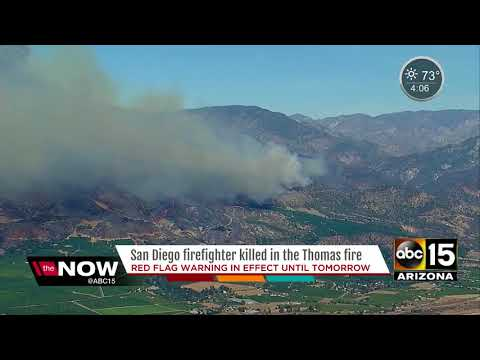 Firefighter dies fighting Thomas Fire in Southern Calif.