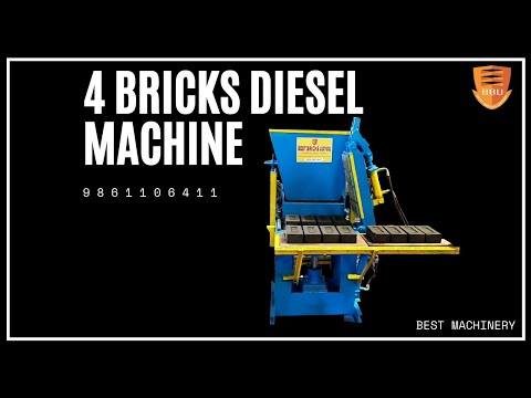 4 Cavity Fly Ash Bricks Making Machine