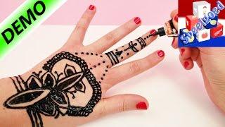 Henna Tattoo Zelf Maken | Henna Hand Tattoo Tutorial Nederlands | Demo