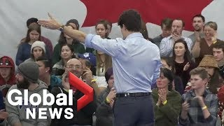 Justin Trudeau shuts down hecklers, orders them to leave